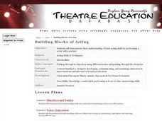Building Blocks of Acting Lesson Plan