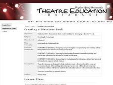 Creating a Directors Book Lesson Plan
