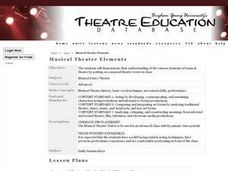 Musical Theatre Elements Lesson Plan