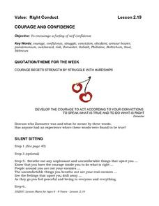 COURAGE AND CONFIDENCE Lesson Plan