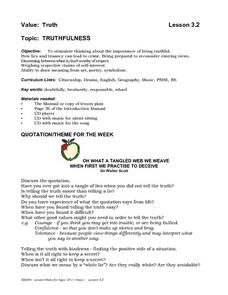 Truthfulness Lesson Plan