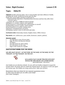 Health and Food Safety Lesson Plan