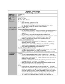 Halloween 1 to 1 Lesson Plan