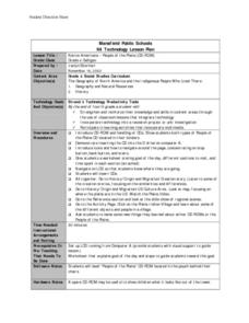 Native Americans - People of the Plains Lesson Plan