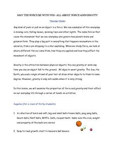 May the Force be with You -- All about Force and Gravity Worksheet