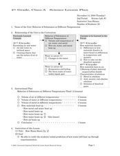 Behavior Of Substances At Different Temperatures Lesson Plan