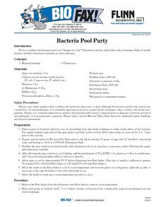 Bacteria Pool Party Lesson Plan