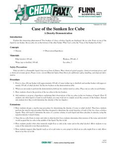 Chemistry: The Case of the Sunken Ice Cube Lesson Plan