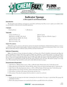 Indicator Sponge A Discrepant Event Demonstration Lesson Plan