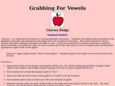 Grabbing For Vowels Lesson Plan