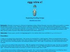 Egg-xtra E! Lesson Plan