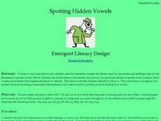 Spotting Hidden Vowels Lesson Plan