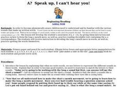 A? Speak up, I can't hear you! Lesson Plan