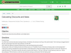 Calculating Discounts and Sales Lesson Plan