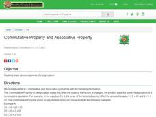 Commutative Property and Associative Property Lesson Plan