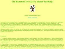 I'm Bananas for Faster, Fluent Reading! Lesson Plan
