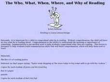 The Who, What, When, Where, and Why of Reading Lesson Plan