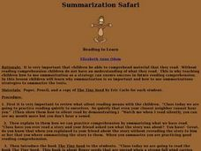 Summarization Safari Lesson Plan