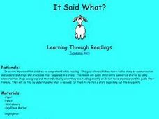 It Said What? Lesson Plan