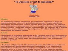 To Question Or Not To Question? Lesson Plan