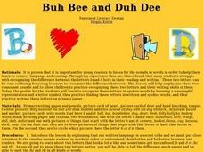Buh Bee and Duh Dee Lesson Plan