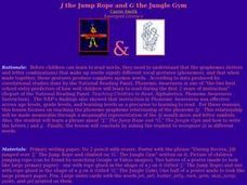 J the Jump Rope and G the Jungle Gym Lesson Plan