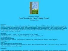 Can You Open the Creaky Door? Lesson Plan