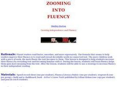 Zooming into Fluency Lesson Plan