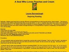 A Seal Who Loves Peaches and Cream Lesson Plan