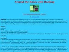 Around the Bases with Reading Lesson Plan