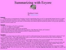 Summarizing with Eeyore Lesson Plan