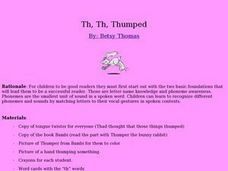 Thumped Lesson Plan