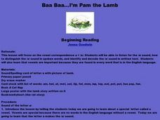 Pam The Lamb Lesson Plan