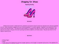 Shopping for Shoes Lesson Plan