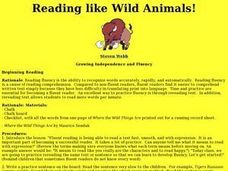 Reading Like Wild Animals! Lesson Plan