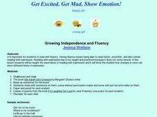 Get Excited, Get Mad, Show Emotion! Lesson Plan