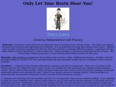 Only Let Your Brain Hear You! Lesson Plan