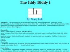 The Iddy Biddy i Lesson Plan