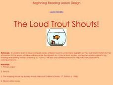 The Loud Trout Shouts! Lesson Plan