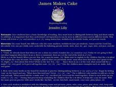 James Makes Cake Lesson Plan