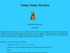 Chomp Chomp Chocolate Lesson Plan