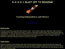 5-4-3-2-1 Blast Off To Reading Lesson Plan