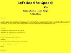 Let's Read For Speed! Lesson Plan