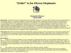 "Eehh?"" is for Eleven Elephants Lesson Plan"