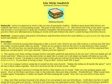 Icky Sticky Sandwich Lesson Plan