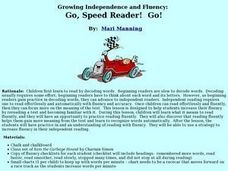 Go, Speed Reader, Go Lesson Plan