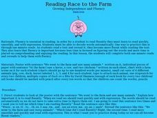 Reading Race to the Farm Lesson Plan