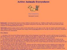 Active Animals Everywhere Lesson Plan
