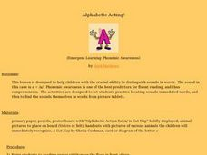 Alphabetic Acting Lesson Plan