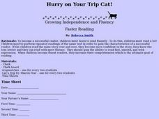Hurry On Your Trip Cat Lesson Plan